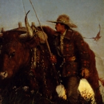 Harvey Dunn - The Ox Driver, an Old Time Figure of the West