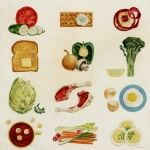 Fred Eng (1917-1995) | Food Illustrations, n.d. | Illustration for unknown purpose | Gouache on paper | Norman Rockwell Museum Collection, gift of the Eng Family, NRM.2012.4.89