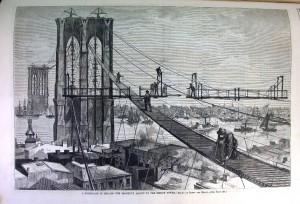 Brooklyn Bridge Harpers Weekly 1877