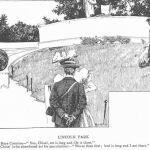 Frederick Richardson (1862-1937) | Lincoln Park, c. 1897 | Editorial cartoon illustration for the Chicago Daily News
