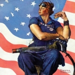 Rosie the Riveter (detail) Norman Rockwell 1943