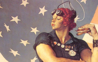 Rosie the Riveter detail