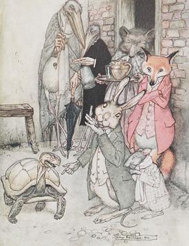 The Hare and the Tortoise Arthur Rackham ,1912
