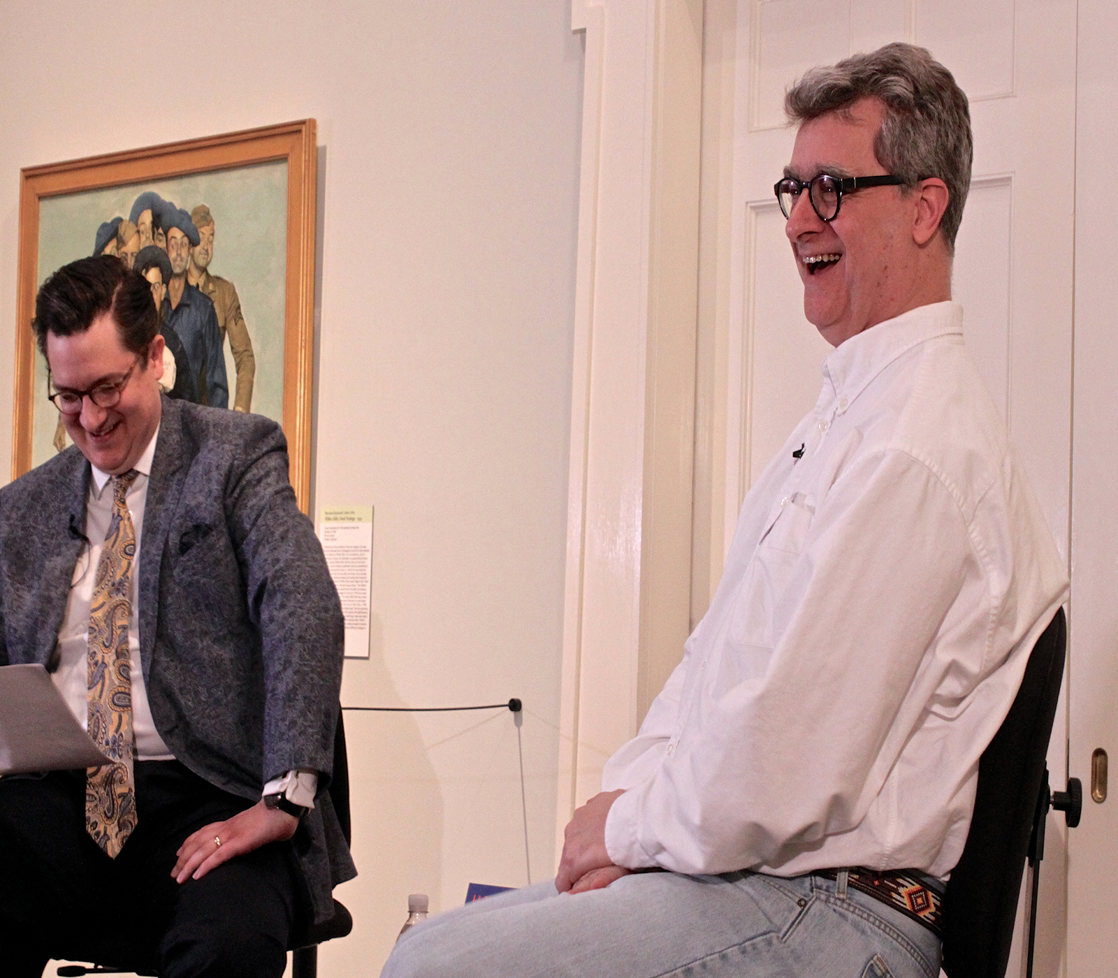 Fred Seibert (right) talking about the future of Frederator. Photo by Marisa Losciale