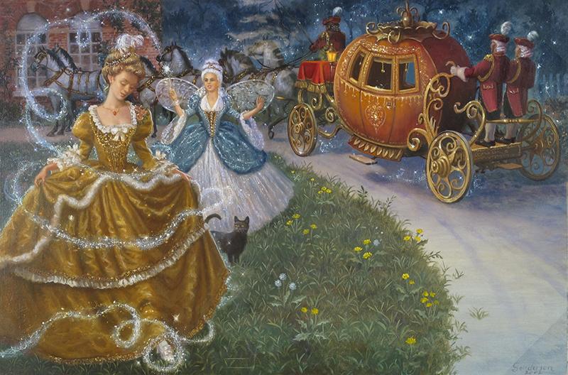1. Ruth Sanderson, Cinderella interior art, 2002