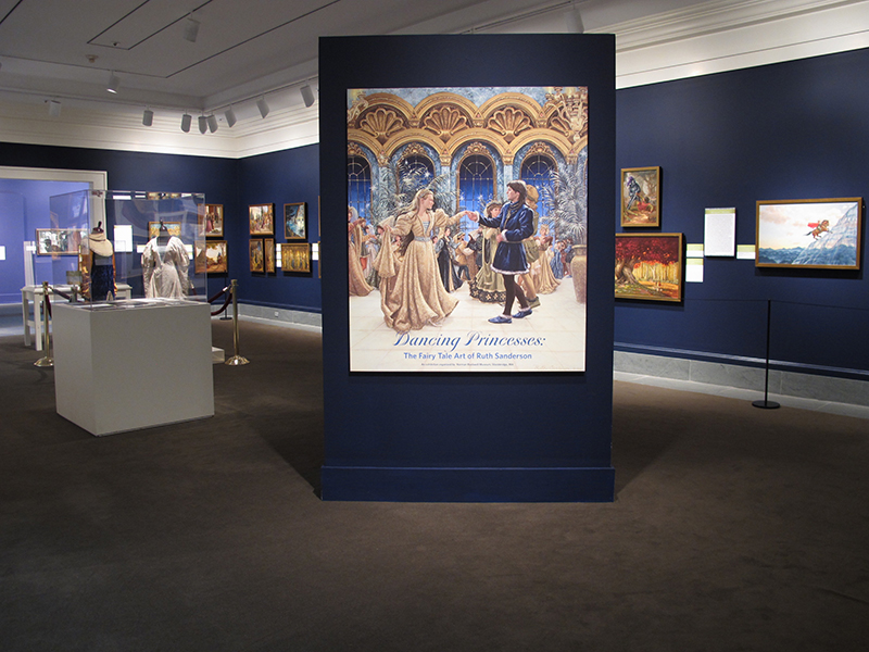 7. Dancing Princesses exhibition installation, Norman Rockwell Museum, 2013