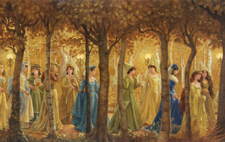 8. Ruth Sanderson, The Twelve Dancing Princesses interior art, 1990