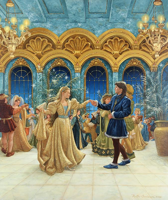 9. Ruth Sanderson, The Twelve Dancing Princesses interior art, 1990