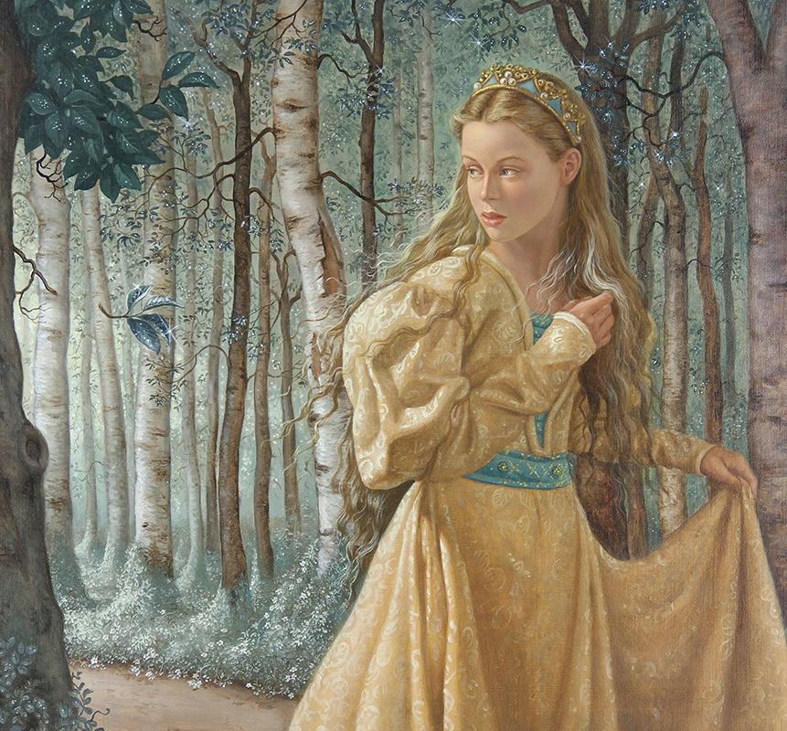 15. Ruth Sanderson, The Twelve Dancing Princesses final painting, 1990