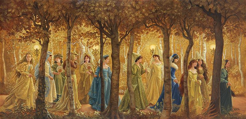 16. Ruth Sanderson, The Twelve Dancing Princesses interior art, 1990