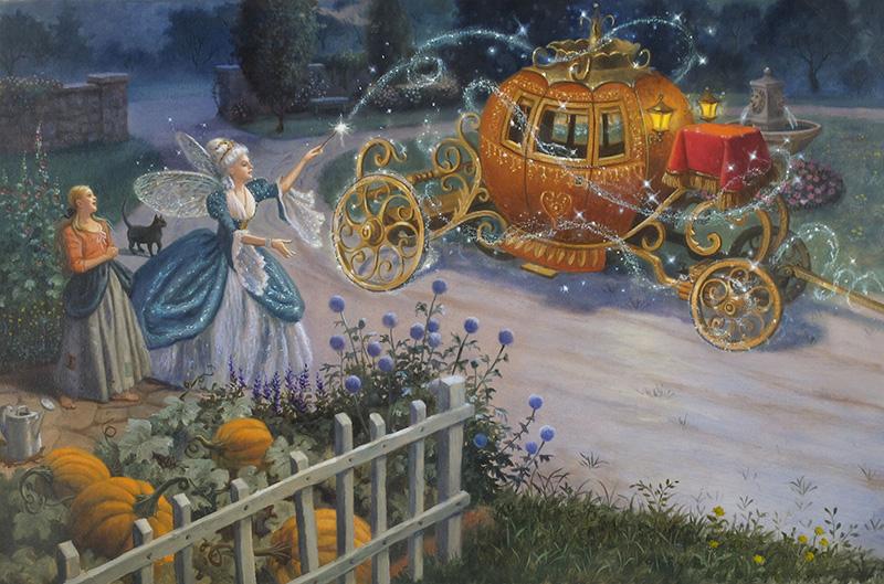 17. Ruth Sanderson, Cinderella interior art, 2002