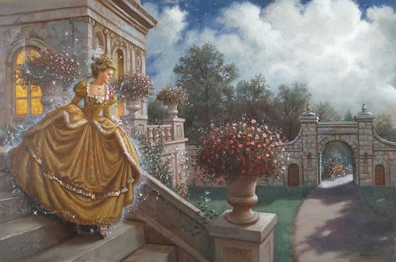 19. Ruth Sanderson, Cinderella interior art, 2002