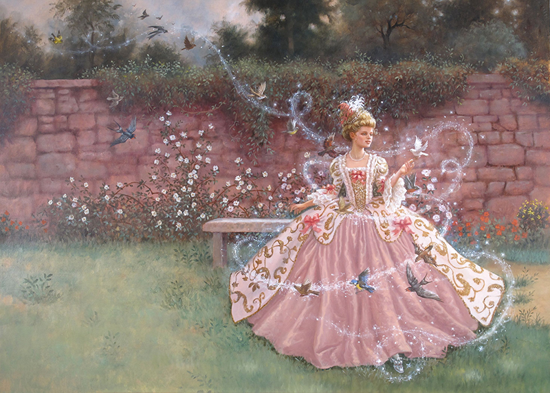 20. Ruth Sanderson, Cinderella interior art, 2002
