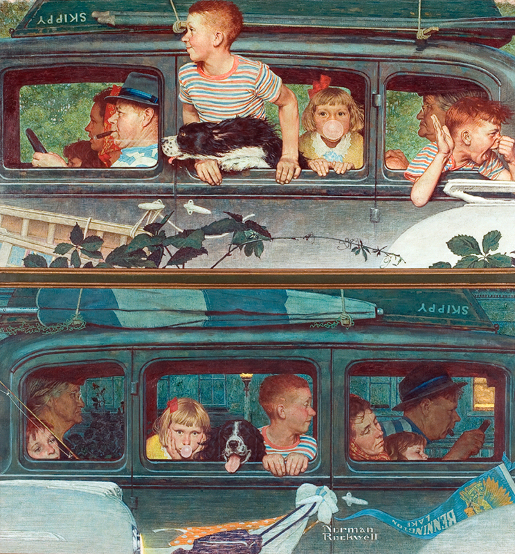22. Norman Rockwell, Going and Coming, 1947